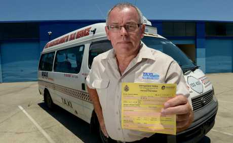 Tweed taxi driver Steve Gadfrey was fined for picking up a passenger in Coolangatta.