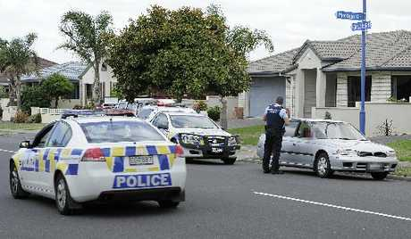 SEARCHING: Police trawl Papamoa streets looking for a suspected burglar who ran from a house after being disturbed.