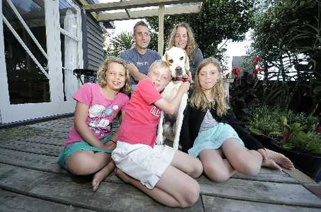 FAMILY FUN: Holidaying at the Mount are Steve and Sue Mellsop with children Grace, 9, (left), Curtis, 9, and Jess, 11.