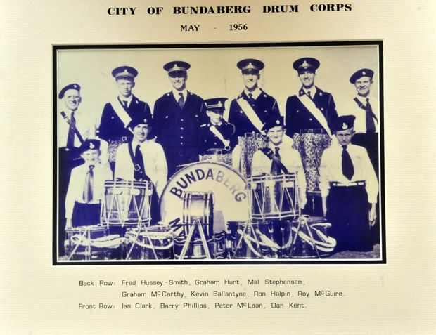 ORIGINAL DRUMMERS: A photo of the original City of Bundaberg Drum Corps in 1956. Photo: Contributed