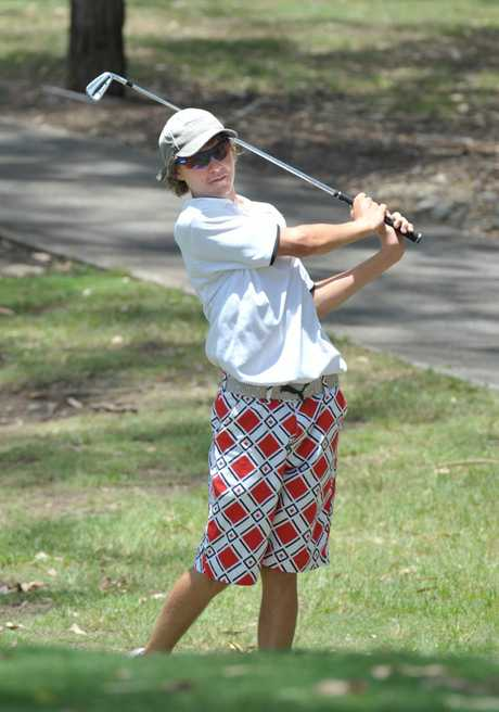 Michael Madden taking part in the Australian Junior Golf Championships played at Brookwater Golf Course.