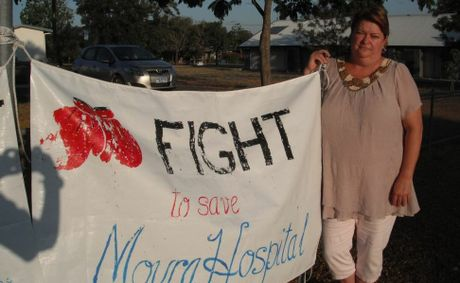 Debbie Elliot is putting up a fight for Moura Hospital. Photo Contributed
