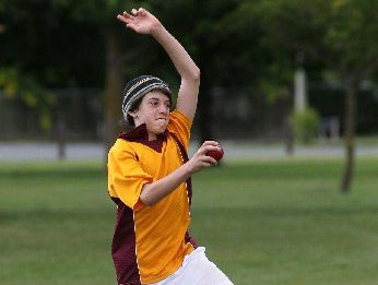 HAT'S OFF: Damon Morgan, 13, claimed a three-wicket maiden hat-trick for his Rotorua team at the annual Riverbend Cricket Camp tournament in Hastings.