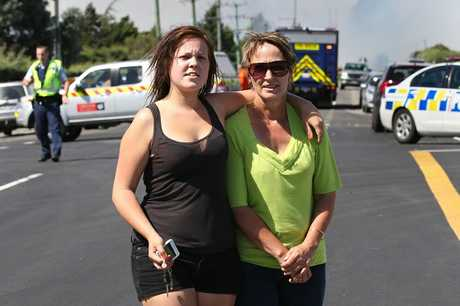 Amy and Bev Throsby fear they have lost their home in the massive fire blazing in the Selwyn Rd, Robinsons Rd area, south of Christchurch