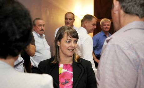 Attorney-General of Australia Nicola Roxon in Toowoomba for the second anniversary of the 2011 flood disaster.