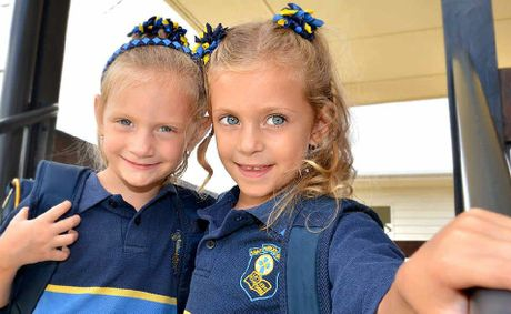 Twins Meg and Gracie Stevenson are ready to be part of a big contingent of fraternal and identical twins in this years Prep intake at St Patricks school.
