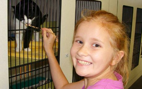 PET-FRIENDLY: Animal-loving kids find out lots at the RSPCAs holiday programs.