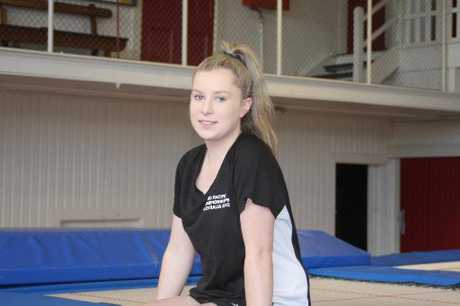 UPWARD BOUND: Saints Trampoline Club's Stacey Kerin is hoping for another good year. PHOTO/JAMES FORD