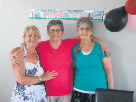 Sisters Ingrid Rowe, Eve Young and Jackie Barr, together on Christmas Day after half a century.