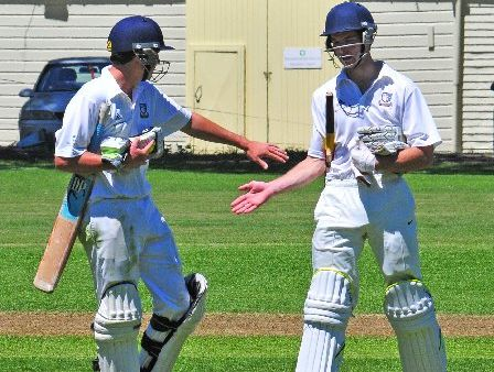 READY: Tim Lucas (left) will bat at the top of the order while Harry Clinton-Baker will bat at number five.