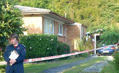 A security guard at a house in Kawerau where a man died after being stabbed.
