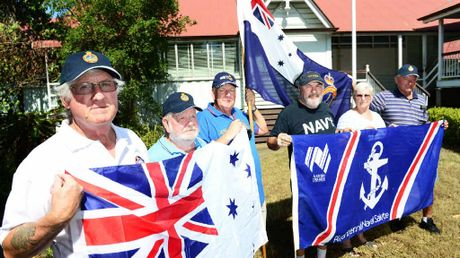BATTLE LINES: Bundamba Sub-Section Naval Association of Australia members (from left) Bill Krause, Fred Kirby, Gary Rankin, Ron Baker, Mary Kirby and Kurt Geipel refuse to leave the former Blackstone State School.