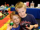CREATIVE SPIRITS: Eva and Thomas Clarke have fun building with Lego at the Switch Bricks event.