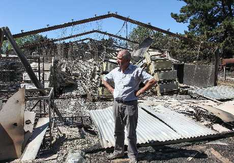 Allen Marshall owner of the burnt out chicken farm near Prebbleton, Christchurch.