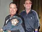 Elton John, David Furnish and baby Zachary.