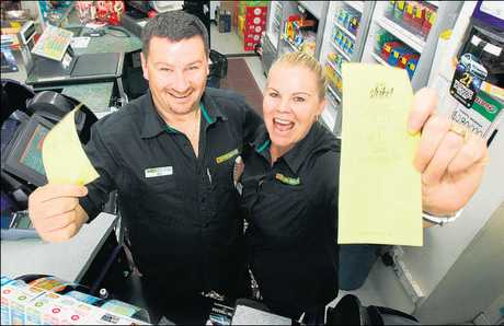 Ross and Ange McAinch, owners of the Te Puke Four Square, sold more than 25,000 winning tickets.