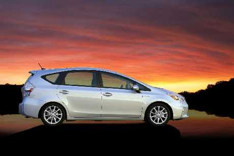 TOYOTA PRIUS V: Seven seats and adaptable wagon section.