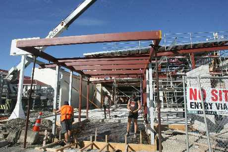 GOING UP: The new health hub under construction in Lincoln Rd, Masterton, will primarily be leased by Pathways/Care NZ.