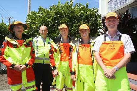 RESCUED: LandSAR Wanganui volunteers John Hitchcock (secretary, left), Colin Wright (operations manager), Stewart Crawford (chairman), Rod Smillie (DoC training officer) and Alex Loggie.