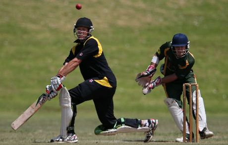 BRILLIANT TON: Northern Districts allrounder Brett Hampton scored a blazing century for Greerton against Mount Maunganui at Pemberton Park.