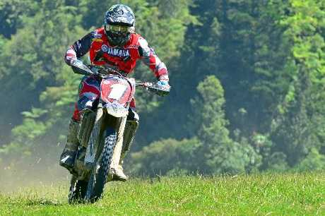 RIDING HARD: Pahiatua's Paul Whibley (Yamaha), looking very sharp ahead of his 2013 United States campaign.