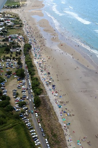 HOT STUFF: With the Bay&squot;s run of high temperatures continuing yesterday, the action at Waimarama Beach Day was of the traditional variety as well.