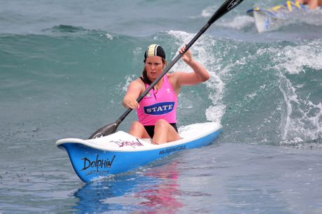 Mount Maunganui&#39;s Katie Wilson on her way to victory in the ironman at the Central Region championships.  