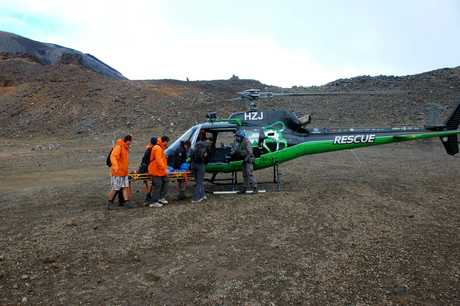 Taupo Greenlea Rescue Helicopter rescued a woman from Mt Tongariro.