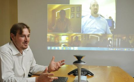 John Henderson from Downs Microsystems using the Microsoft Lync technology.