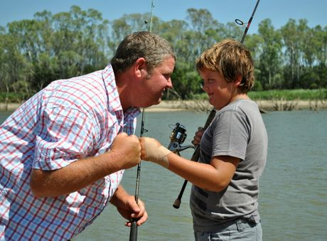 FISHING BATTLE: Keen St George anglers (left) Rodney and Sean Beckmann are preparing to go head-to-head for fishing glory during the Queensland Yellowbelly Championship next weekend.
