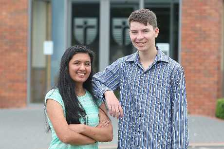 ACADEMICS: John Paul College students Sophie Deo, 16, and Fintan Walsh, 16, excelled with their NCEA exam results, which were released yesterday.