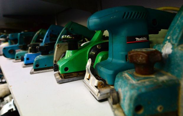 Tools at Speedi Cash in Rockhampton. Photo Sharyn O'Neill / The Morning Bulletin