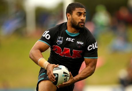 Michael Jennings of the Panthers runs the ball during the round 23 NRL match between the Penrith Panters and the Canberra Raiders at Centrebet Stadium on August 12, 2012 in Sydney, Australia.