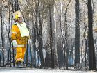 EMERGENCY services are water bombing a bushfire burning in the South Burnett region.