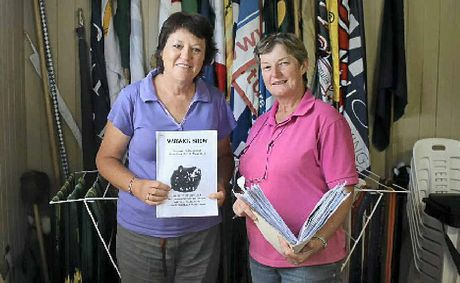 Warwick Show and Rodeo Society stewards Julia Leech and Susan Bondfield hard at work last year.