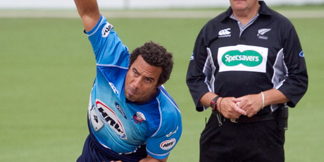 Andre Adams snared two wickets for the Auckland Aces.