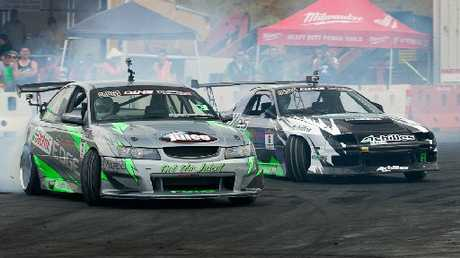 HOT ACTION: Fans are in for some spectacular thrills at the third round of the 2012/13 Cody's D1NZ National Drifting Championship at Baypark this weekend.