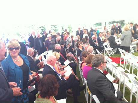 Guests take their seats about 10 minutes before the investiture ceremony begins. PHOTO/PAUL TAYLOR.