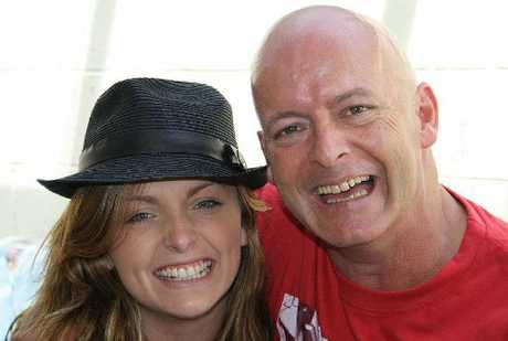 TRAGIC: Hayley Soper with father Regan Soper who died suddenly on Monday, while she was at a friend's funeral.