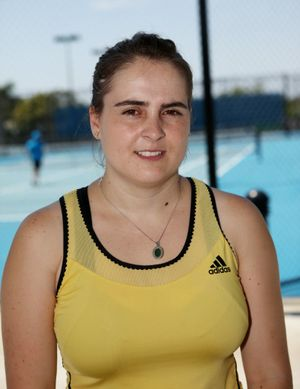 Tennis coach Helen Papaevagelou. Photo Allan Reinikka / The Morning Bulletin