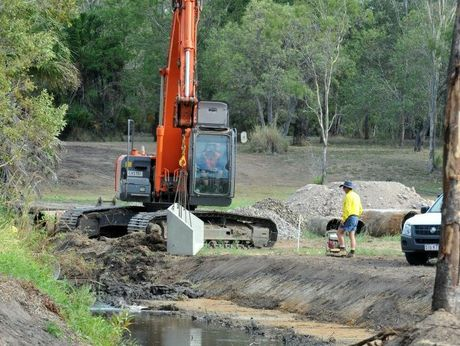 WORK BEGINS: Bundaberg Regional Council is committed to cleaning up the lagoon and the creeks connected to it. Photo: Max Fleet / NewsMail