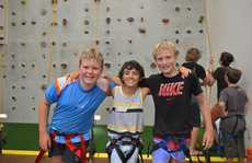 Kade Porter, 11, Nathan Kenny, 11 and Matthew Hitchcock, 11.