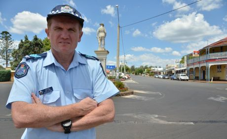 OUT THERE: Blackbutt Police Sergeant Rod Venn wants the town's residents to keep cautious.