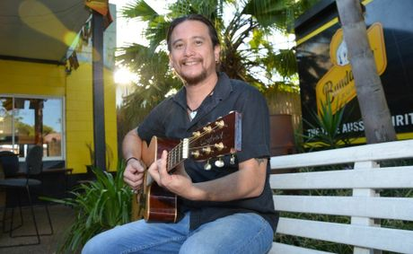 READY TO ROCK: Tony Cisneros is the organiser of a monthly public jam at the Yarraman Royal Hotel for all ages and styles.