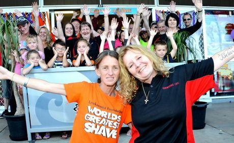 UNITED FOR CHARITY: Cath Kenny, Donna Moore and 100 more South Burnett locals are uniting under one team and putting up their hand to be a part of the World's Greatest Shave.
