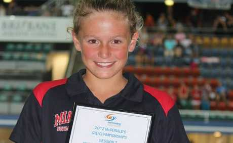 Anthea Warne,11, set new Queensland record last month Photo Contributed