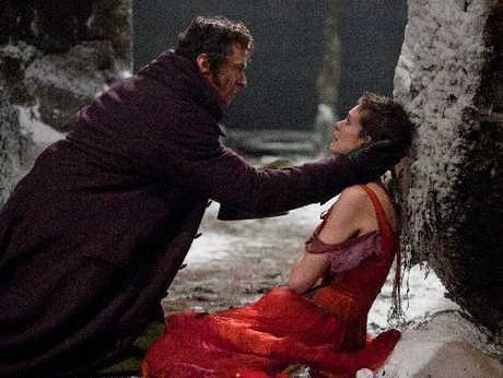CAPTIVATING: Hugh Jackman and Anne Hathaway in Les Miserables.