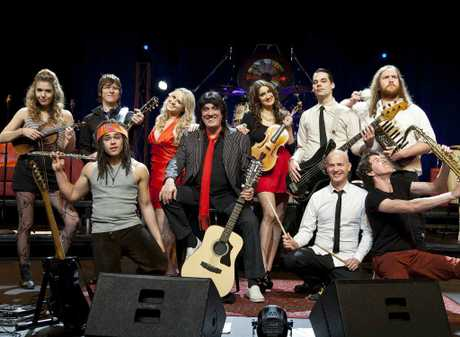 Jon English and the cast of Rock Revolution