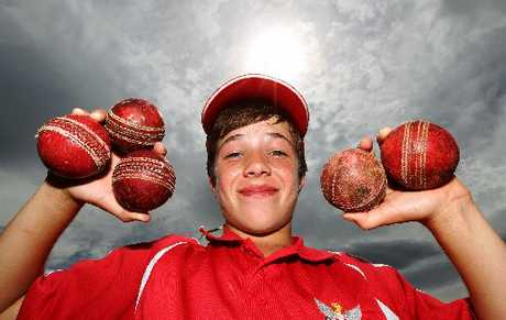 OFF SPINNING: Luke Gichard got a hattrick in his five-wicket bag but he is partial to batting.