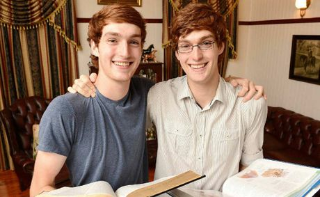STUDY BUDDIES: Twins James and Keegan Hunter have both been accepted for their preferred university courses.